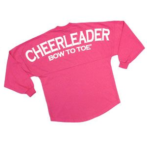 Cheerleader+BOW+TO+TOE+Spirit+Football+Jersey+Hot+Pink by Cheerleading Company
