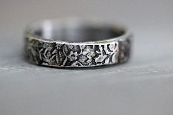 Sterling Silver Wedding Band Engagement Band by MossyCreekStudio