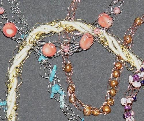 Making a Fine Wire Necklace  with the Clover Wonder Knitter