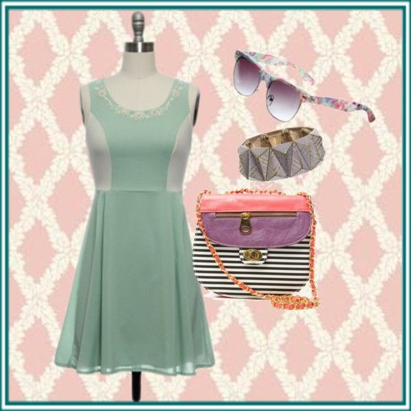 """Mint + Purple: A Perfect Pairing"" by laceaffair on Polyvore"
