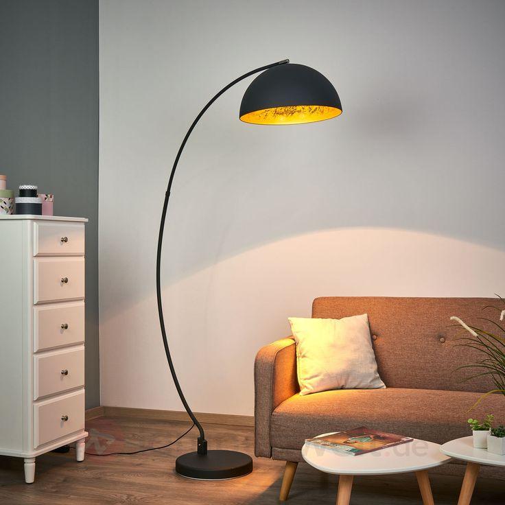 Bogen-Stehleuchte Golden Sun sicher & bequem online bestellen bei Lampenwelt.de.
