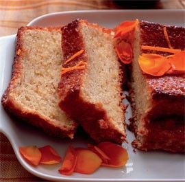 Orange and hazelnut cake with orange flower syrup by Silvena Rowe from Fine Cooking Magazine, May 2011
