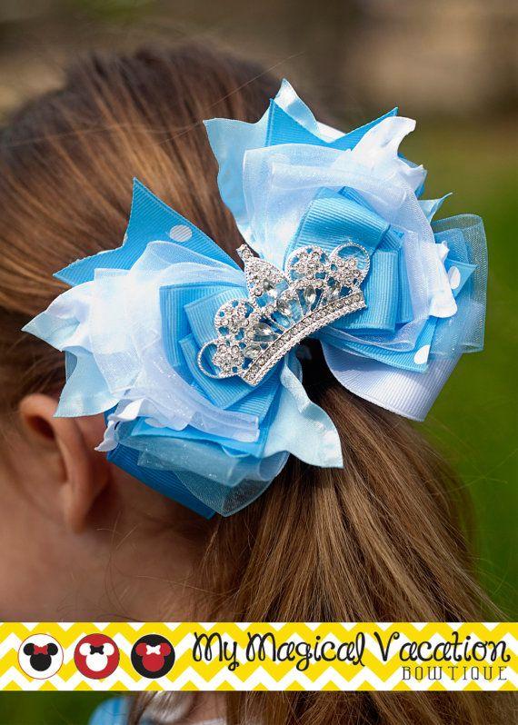 Cinderella Boutique OTT Bow, Disney Bow, Disney Vacation Bow, Hair Bow, Boutique Hair Bow, Disney Headband, Cinderella Bow on Etsy, $28.95