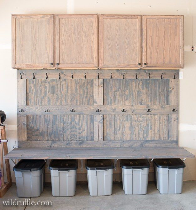 DIY Projects Your Garage Needs -Garage Mudroom DIY - Do It Yourself Garage Makeover Ideas Include Storage, Organization, Shelves, and Project Plans for Cool New Garage Decor http://diyjoy.com/diy-projects-garage
