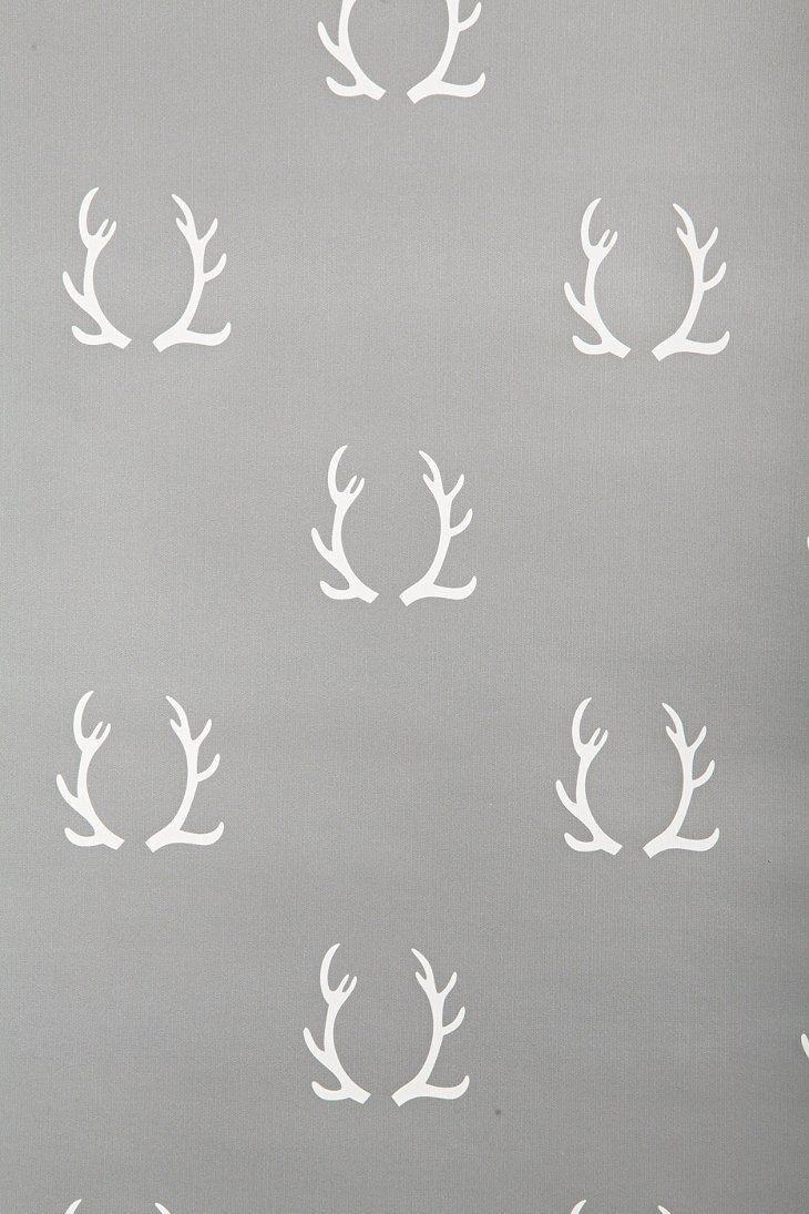 chasing paper antlers removable wallpaper urban. Black Bedroom Furniture Sets. Home Design Ideas