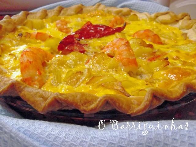 Quiche Tortilha 3 Queijos e Camarão