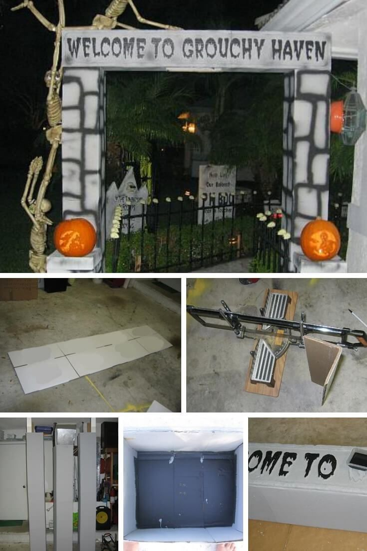 Diy halloween door decorations with cardboard