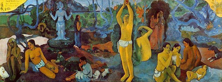 """""""De onde viemos? O que somos? Para onde vamos?""""    """"Fecho meus olhos para ver"""" (Paul Gauguin)  """"A arte precisa da filosofia assim como a filosofia precisa da arte. De outro modo, o que seria da beleza?"""" (Paul Gauguin)"""