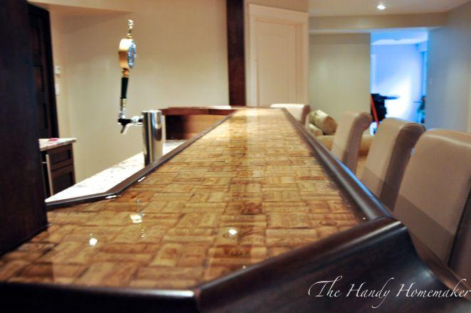 Best 25 bar top epoxy ideas on pinterest diy epoxy for Cork bar top