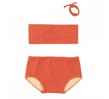 Omkeerbare oranje bikini - Little Creative Factory - Goldfish.be