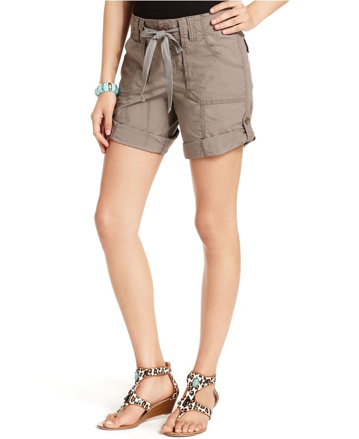 INC International Concepts Shorts, Drawstring Cargo - Womens Shorts - $44.50