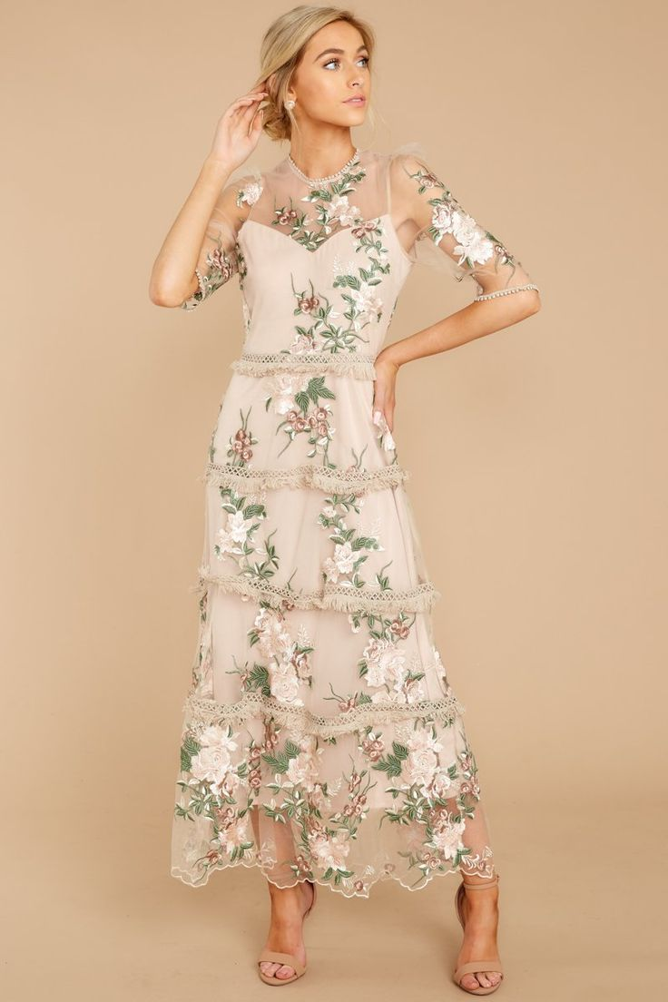 Honestly Love You Pink Floral Maxi Dress 2