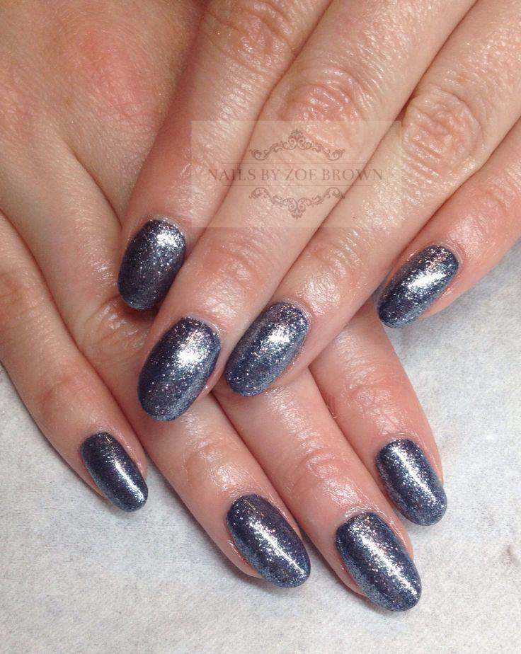 Cnd shellac indigo frock with star dust lecente Constilation glitter