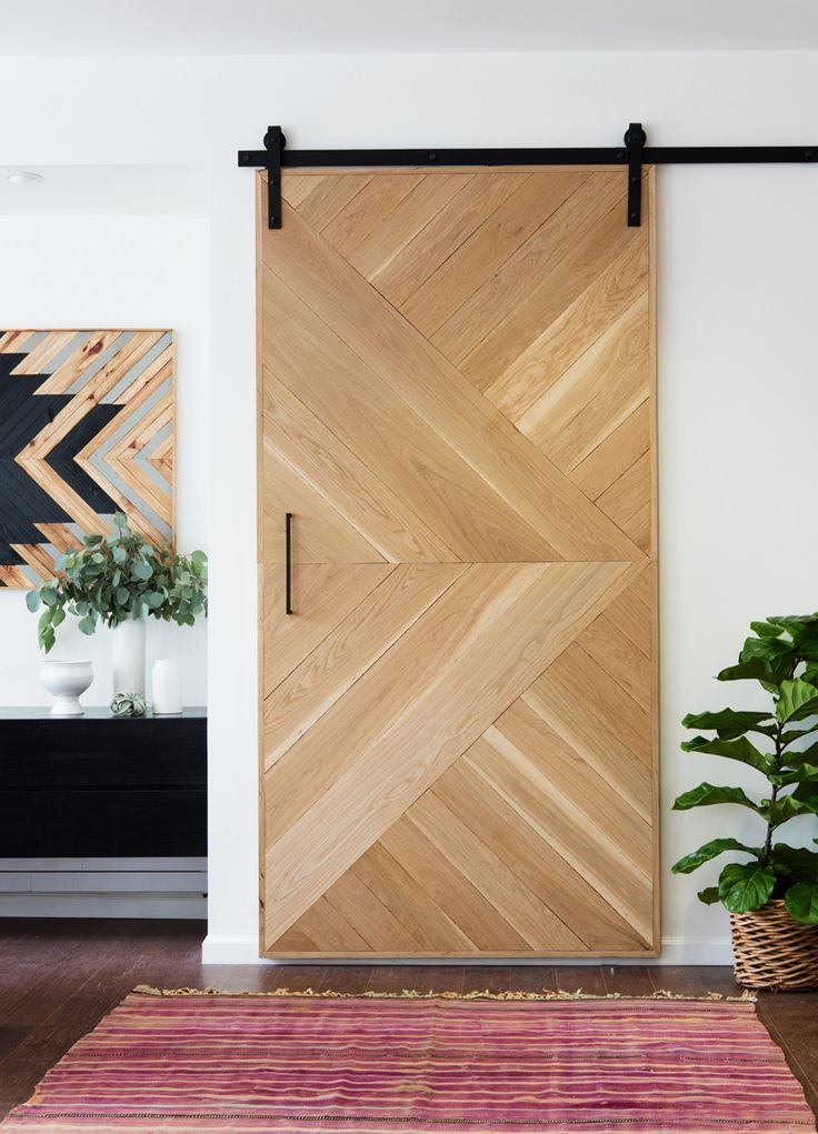 Geometric Wooden Barn Door