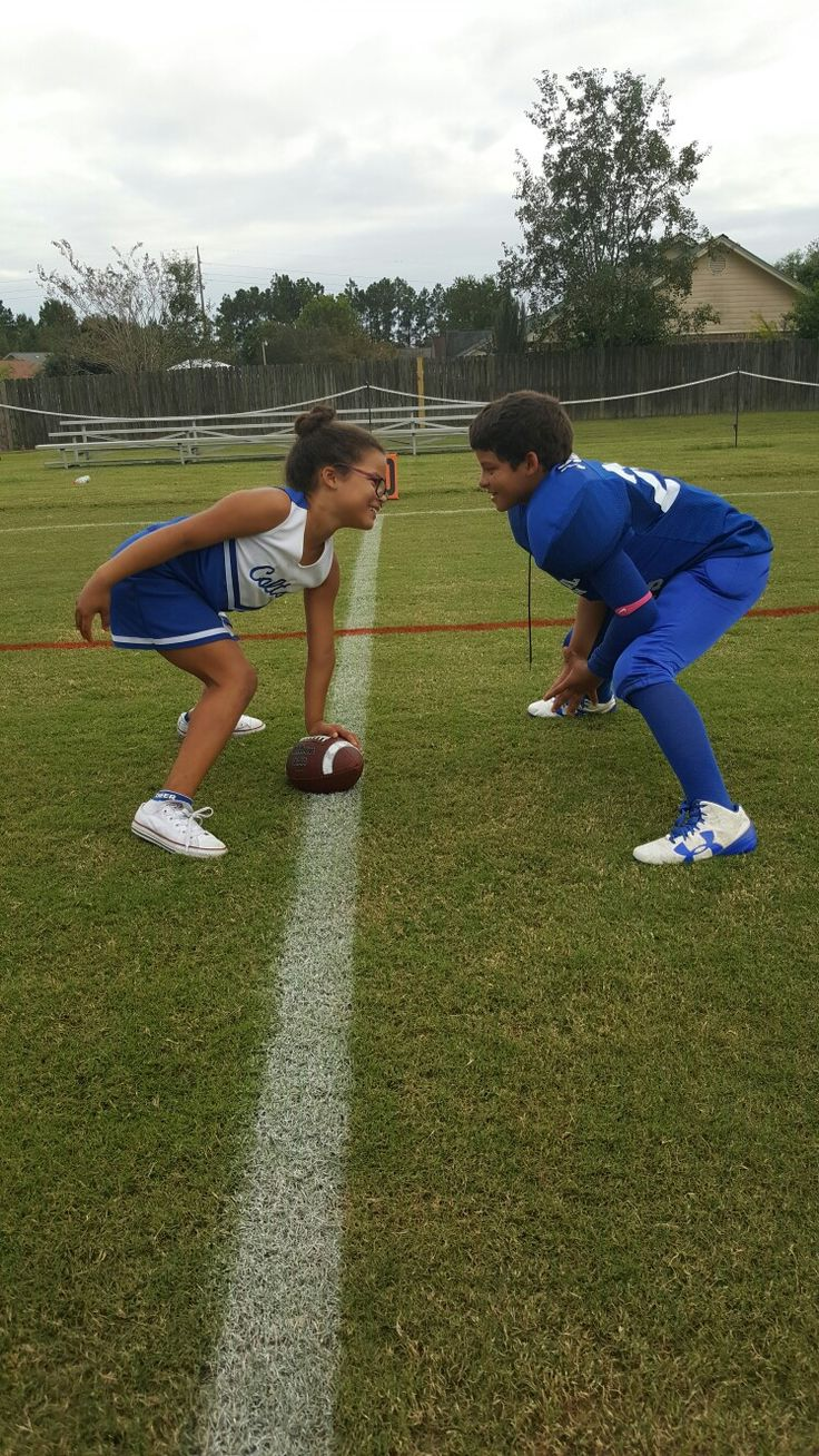 Cheerleader vs football player  Sister vs brother  Photography