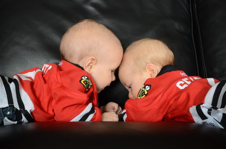 Future defensive pair? Carter Seabrook and Colton Keith were born three months apart and are buddies already.
