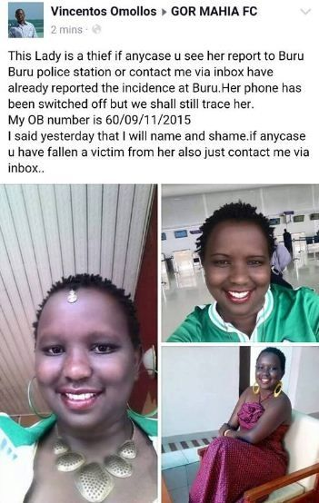 If you see this b@@tiful Gor Mahia LADY report her to the nearest police station . LOOK