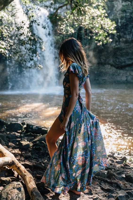Honeymoon Dresses Ideas 2018: Summer Style   Floral Wrap Maxi Dress: