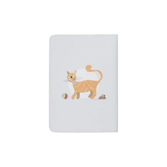 Girls Cute Ginger Tabby Cat Cartoon Name Kids Passport Holder Zazzle Com In 2020 Tabby Cat Cartoon Cat Cute Ginger