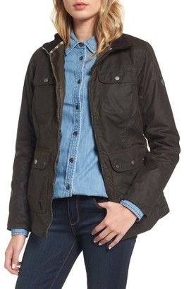 Shop Now - >  https://api.shopstyle.com/action/apiVisitRetailer?id=675340036&pid=uid6996-25233114-59 Women's Barbour Filey Water Resistant Waxed Canvas Jacket  ...