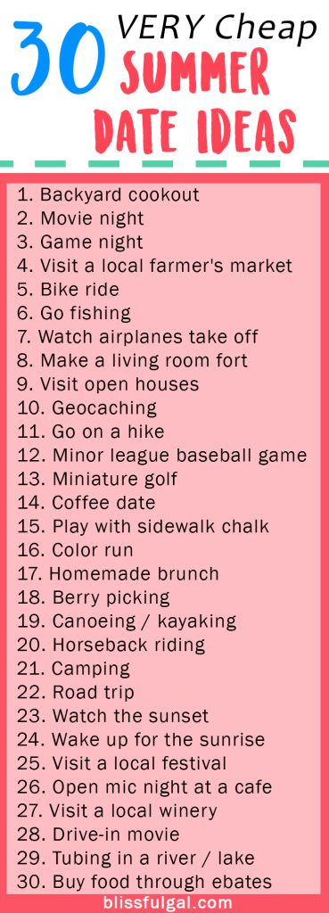 cheap summer date ideas / summer date night ideas / free date ideas / fun and romantic summer date night / summer bucket list