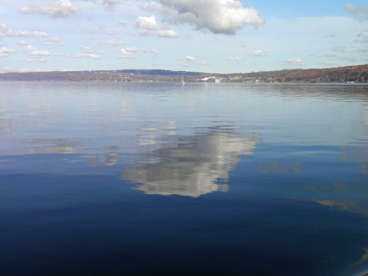 Cayuga Lake looking north from near Ithaca, NY toward Myers Point and Portland Point.: Myers Points, Favorite Places, Cayuga Lakes, Fingers Lakes, Portland Points