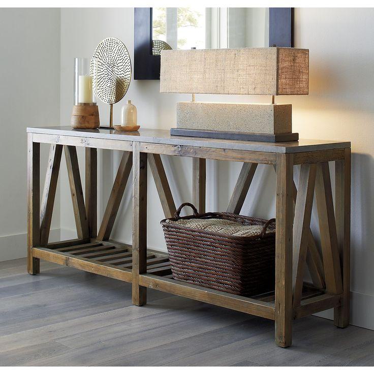 Foyer Table Crate And Barrel : Bluestone console table crate and barrel