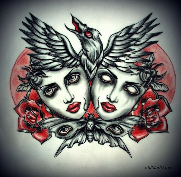 17 best images about mariola weiss on pinterest tattoo for Ravens face tattoos