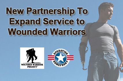 New partnership btw Wounded Warrior Project & Operation Homefront expands help to more wounded warriors.