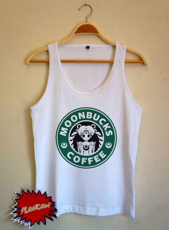 Sailor Moon shirt Moonbucks Coffee Tshirt UNISEX Tank Top for Men & Women Size available S M L XL