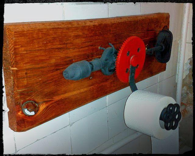 Поделки и проделки: Ручная дрель+туалетная бумага