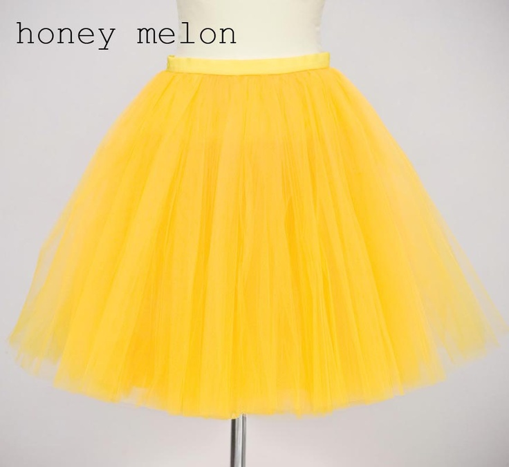 Yellow tutu tulle skirt for adults, petitcoat, adult tulle skirt , yellow tutu skirt. €100.00, via Etsy.