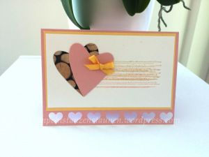 Handmade Card with Stampin' Up! for a wedding or a good friend. Stamp: Gorgeous Grunge, Cardstock: Blushing Bride, So Saffron, Designer Series Paper Stacked with Love, Punch Itty Bitty Accents  https://stempelnstanzenstaunen.wordpress.com/