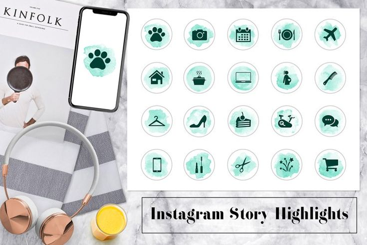 Watercolor Instagram Story Icons