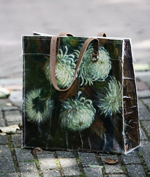swarm bag from painted canvas.