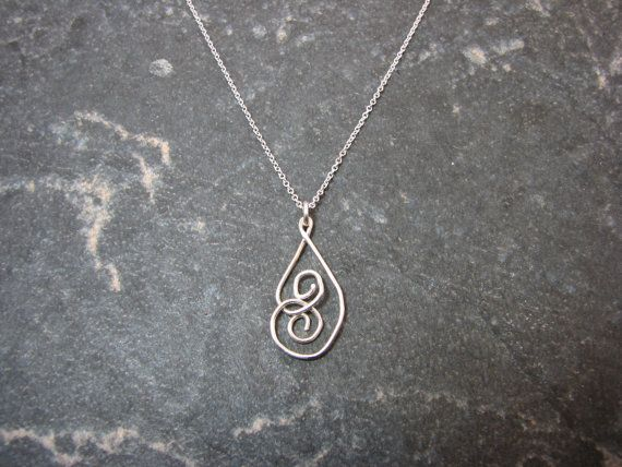Silver Spiral Pendant on Silver Chain by melmacdesigns on Etsy, $23.00