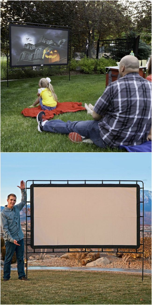 Build an outdoor movie theater - I think I have to do this in my backyard this summer!