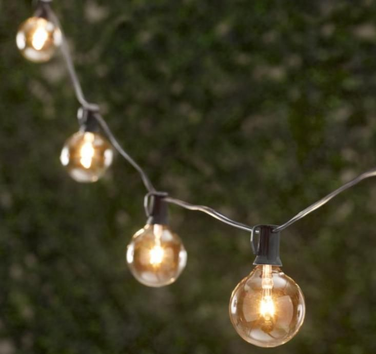 Outdoor Party Globe Light String From Restoration Hardware