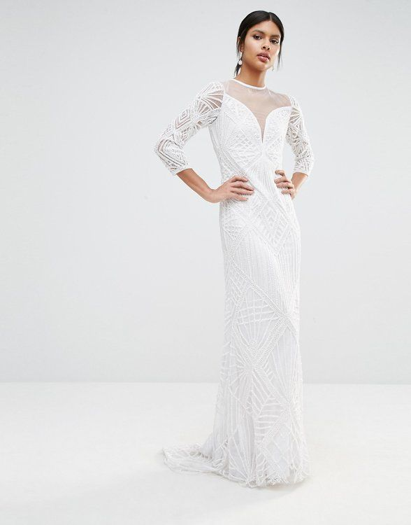 Asos Bridal 4 Most Beautiful Wedding Dresses Sheer Long Sleeve Dress Dresses