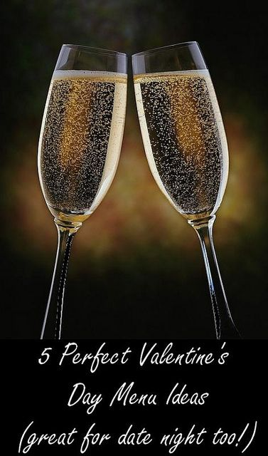 Forget the craziness at the restaurant this year and check out these 5 Valentines Day Menu's for Staying In! #valentinesday #menuplan #datenight