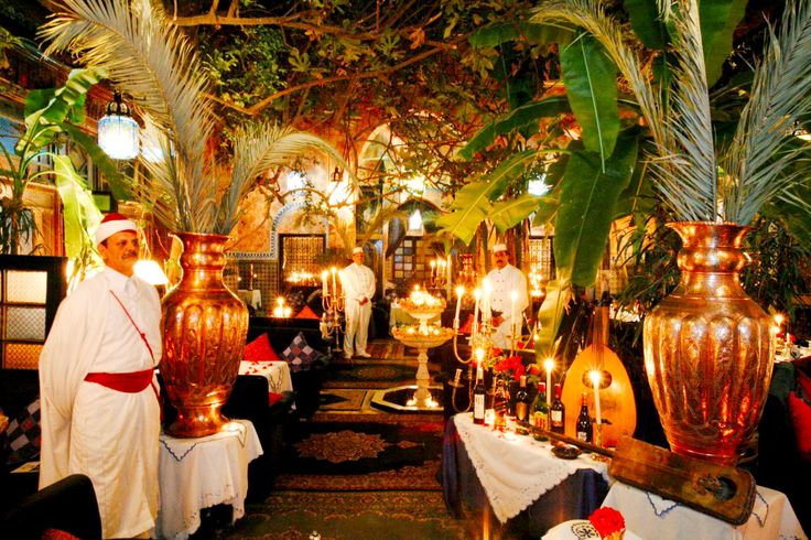 Gorgeous outdoor restaurant in Marrakech