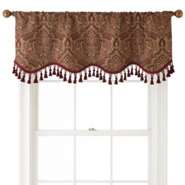 Royal Velvet Vance Rod Pocket Lined Scalloped Valance Found At Jcpenney Home Decor