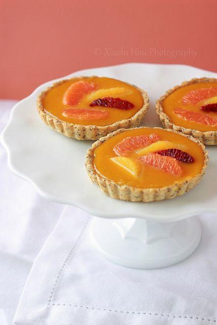 Orange Passionfruit Curd Mini Tartlets