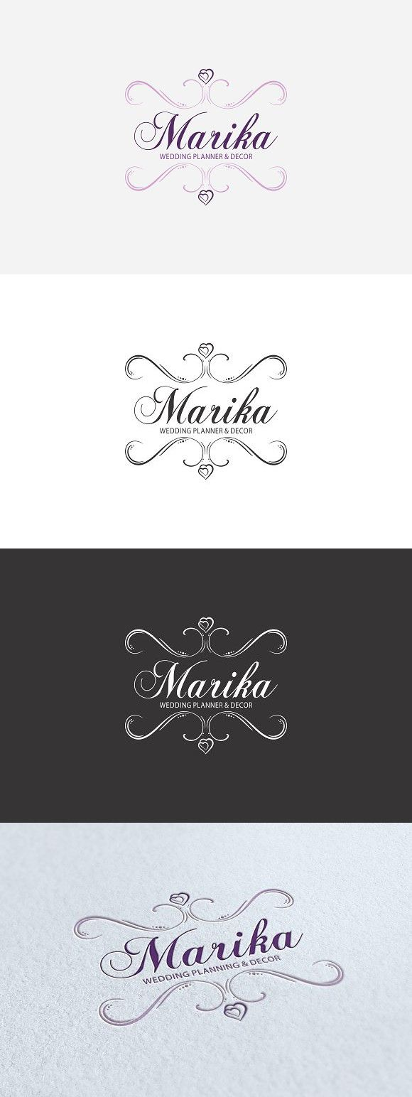 Wedding Planner Logo. Wedding Fonts