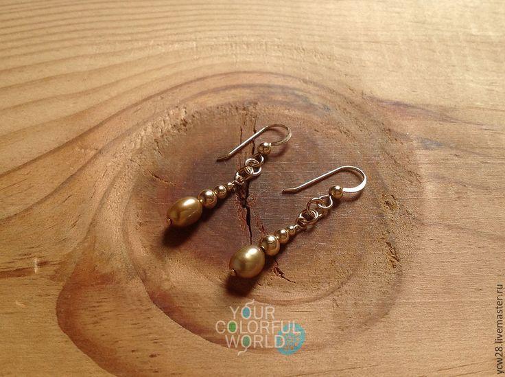 Купить Благородное золото / серьги // Noble Gold / Earrings