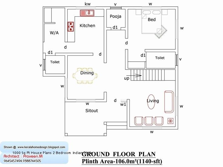 2 Bedroom House Plan Kerala Beautiful 1000 Sq Ft House Plans 2 Bedroom Indian Style Inspirationa In 2020 Home Design Floor Plans Indian House Plans Bedroom House Plans