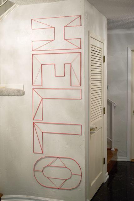 "DIY ""Hello"" String Art – Perfect for an #entryway!"