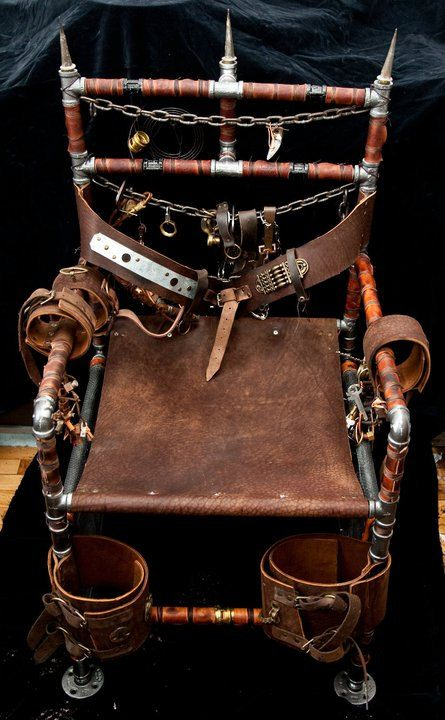 17 best images about steampunk chairs on pinterest for Steam punk chair