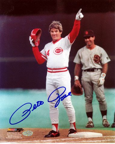 pete rose | Pete Rose Cincinnati Reds - Record Breaking Hit - Autographed 8x10 ...