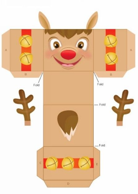 Easy Homemade Reindeer Christmas Gift Box Templates, 2013 Christmas Gift Box Ideas #2013 #christmas #gift #box #templates www.loveitsomuch.com